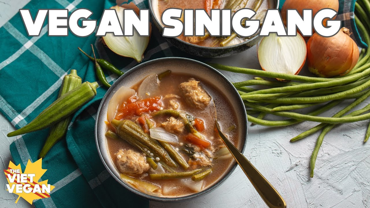 Vegan Sinigang Vegan Filipino Recipes With Janelle Youtube