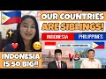 FILIPINO reacts to INDONESIA VS. PHILIPPINES - COUNTRY COMPARISON