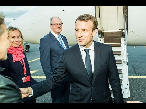 Tallinn Digital Summit - Arrivals at Lennart Meri Tallinn airport - Emmanuel Macron