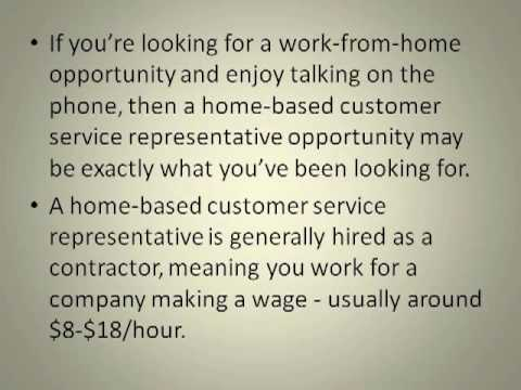 Home Based Customer Service Representative