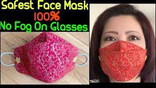 (#196)How To Make The Best Fitted-No Fog On Glasses Face Mask - The Twins Day Face Mask Tutorial