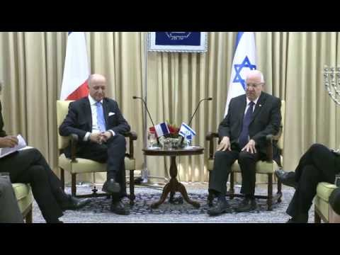 President Rivlin meets with French Foreign Minister Laurent Fabius