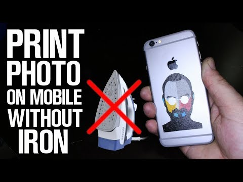 How To Print Your Photo on Mobile Without Iron!