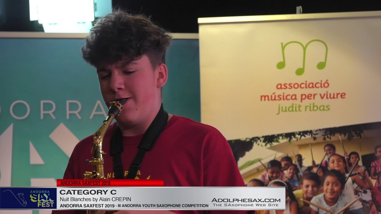 Andorra saxfest 2019 – Youth Competition – Cyril Morin – Nuit Blanches by Alain Crepin