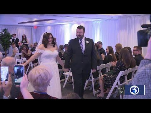 David Fisch - Cancer Patient & Fiance Get Married At CT Children's Medical Center!!