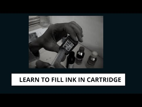 How To Fill Ink In Hp Cartridge Youtube