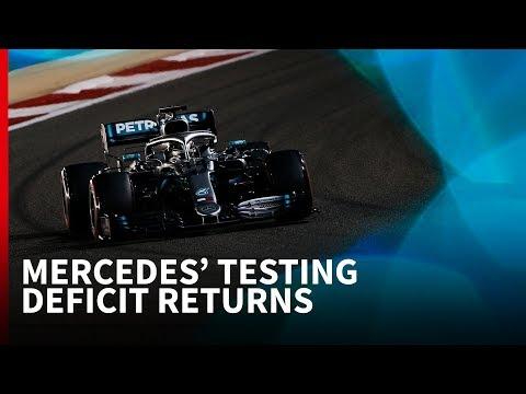 Mercedes' F1 Testing Deficit Returns In Bahrain