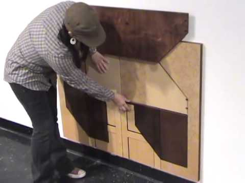 Christy Oates MFA thesis show, laser cut folding furniture
