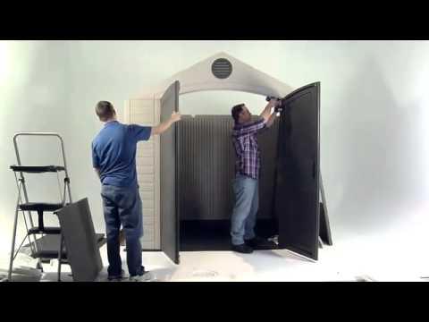 LIFETIME Kunststoffgerätehaus Aufbauvideo