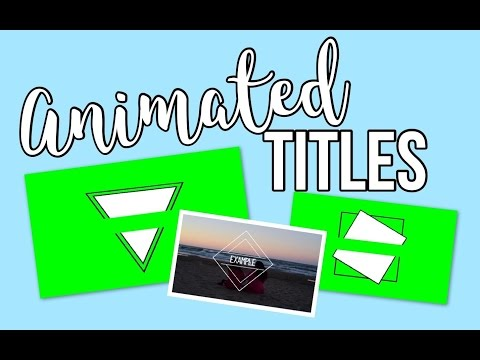 Animated Titles Green Screen