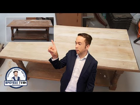 How to bleach wood to make it lighter! - Upcycle TV