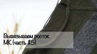 МК для начинающих | Вяжем росток | Свитер регланом снизу | Вязание спицами