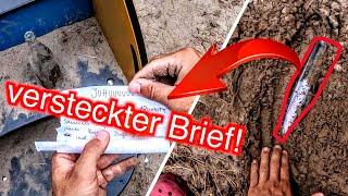 Vergrabene Flaschenpost bei Schatzsuche mit Metalldetektor gefunden!! - Sondeln (Geheimes Versteck)
