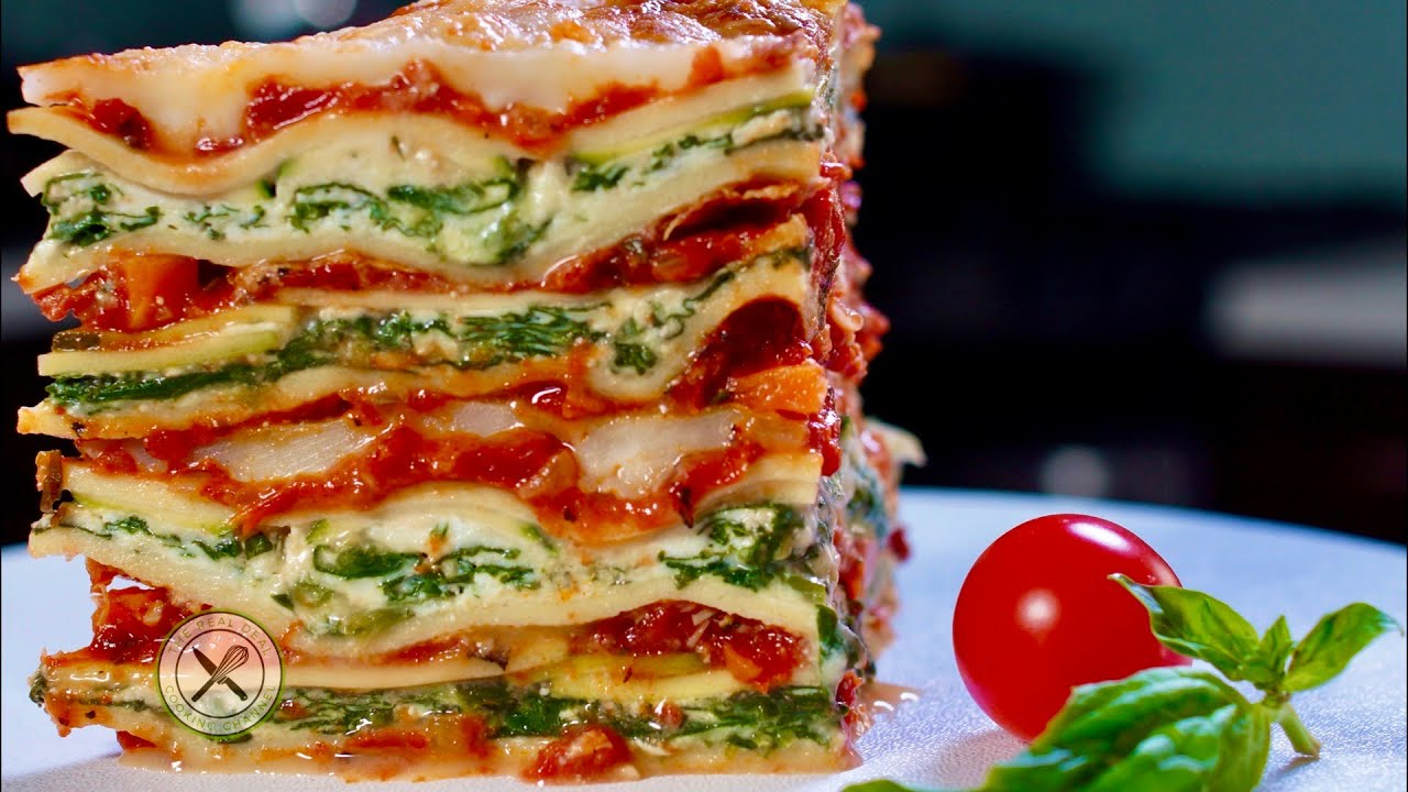 Vegetarian lasagna recipe bruno albouze the real deal youtube forumfinder Image collections