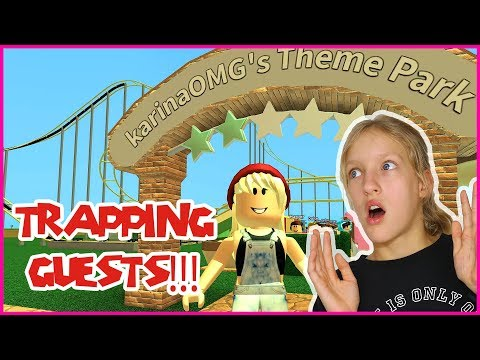 TRAPPING GUESTS IN MY THEME PARK!!!