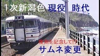 1990年の信越本線青海川駅 通過する485系かがやき・雷鳥・北越・165系急行赤倉など