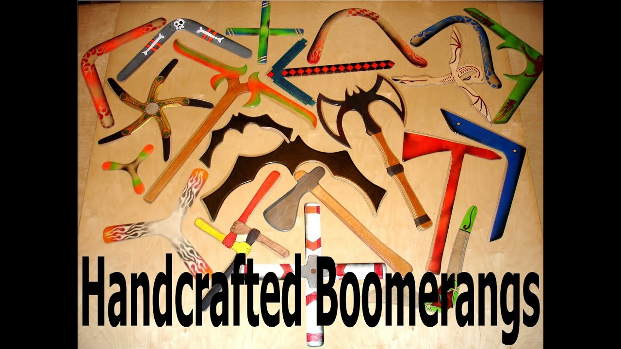 Boomerangs Of Many Shapes And Sizes