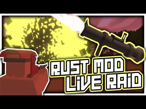 """""""3.. 2.. 1.. , alright you guys are dead!"""" - Unturned Rust Mod Live Base Raid"""