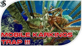 ARK ABERRATION EASY & CHEAP MOBILE KARKINOS/SPINO RAFT TAMING PEN - Step By Step Build