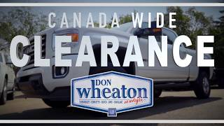 August Canada Wide Clearance Event | Don Wheaton Chevrolet Buick GMC Cadillac
