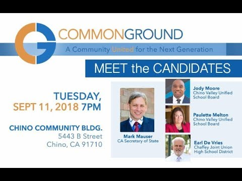 Cg Meet The Candidates 9 11 2018 Youtube