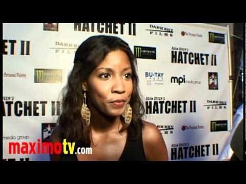 Erika Hamilton Interview at HATCHET 2 Premiere