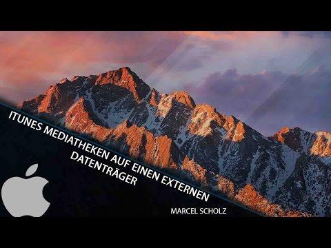 iTunes Mediathek auf externen Datenträger speichern | Marcel Scholz