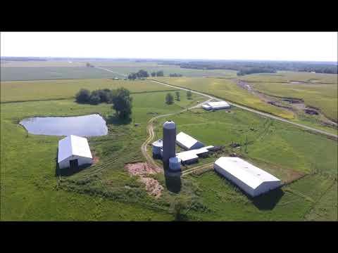 Mary A. Hempen Estate Aerial Tour - Hancock County, IL