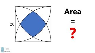 What Is The Area? HARD Geometry Problem