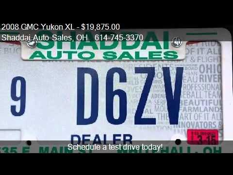 2008 GMC Yukon XL SLT,4X4,DVD for sale in Whitehall, OH 4321
