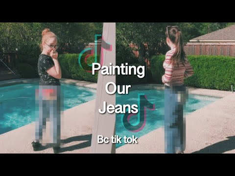 painting-our-jeans-bc-tik-tok-told-us-to