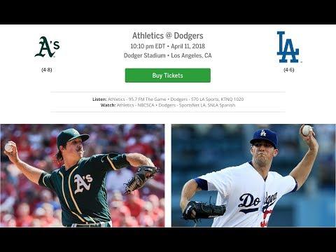 Top MLB Pick LA Dodgers vs Oakland A's 4/11/18 Wednesday Baseball