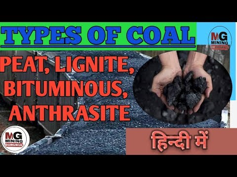 Types of coal | Peat, Lignite, Bituminous, Anthracite |MINING GURUKUL |