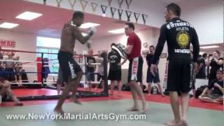 Cosmo Alexandre training with Gene Simco and Marcelo Nigue at NYMAG MMA Gym in Dutchess County NY thumbnail