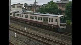 西武秩父駅の横を通過する秩父鉄道の電車 part2