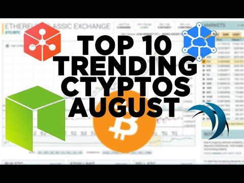 Top 10 Trending Cheap Crypto / Blockchain in August 2017