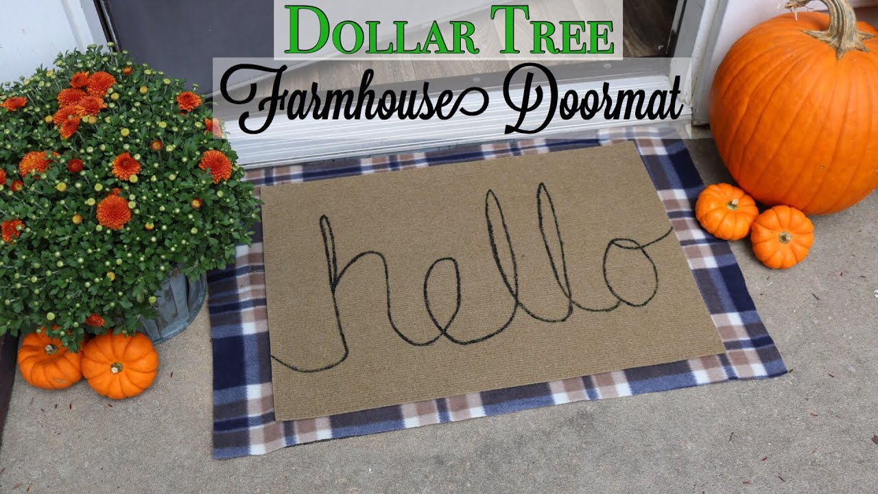 Dollar Tree Diy Farmhouse Layered Welcome Mat Youtube