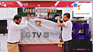 """First Look ; LG 55""""' Smart AI THINQ TV  