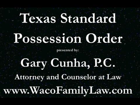Texas Standard Visitation Order