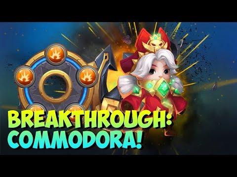 Commodora Breakthrough + Discount Store FUN Castle Clash