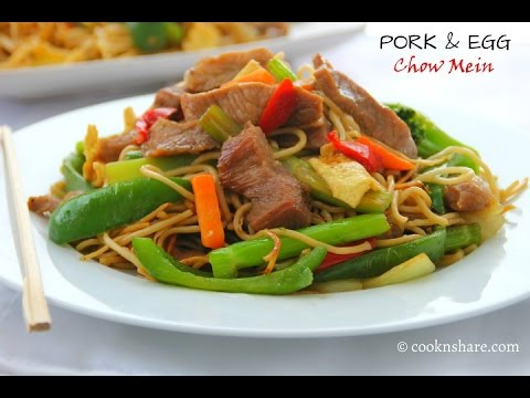 Pork and Egg Chow Mein