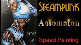 "Speed Painting Video of Steampunk Automaton ""FINE CHINA"""