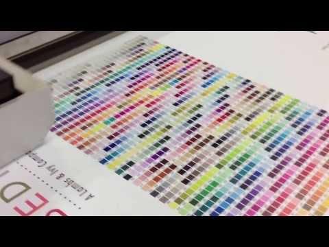 Pantone color chart printed on the Arizona XT UV flatbed pr