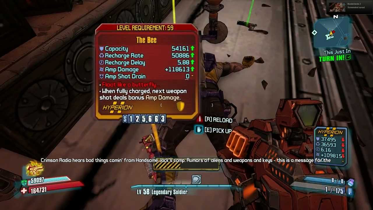 Borderlands 2 - Level 59 Bee Shield Drops First Kill in ... Borderlands 2 The Bee