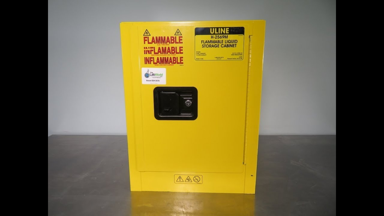Uline H-2569M Flammable Liquid Storage Cabinet 4 gallon