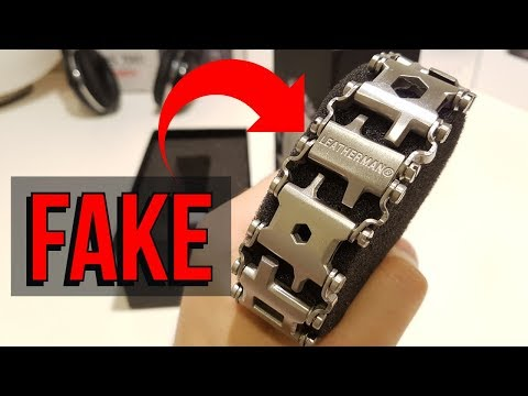 How to Spot a Fake Leatherman Tread? Example on the Fake Leatherman Tread