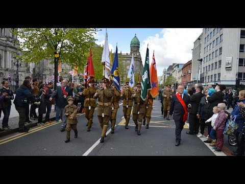 36th March past Belfast City Hall 2015