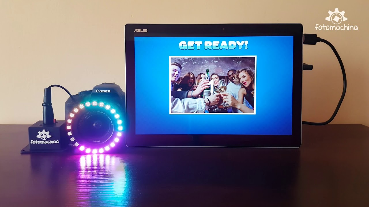 Led Ring For Your Photo Booth Or Mirror Booth Youtube