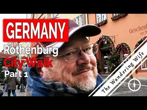 Tour of Rothenburg Germany - City Walk, Part 1 | TRAVEL VLOG #0069