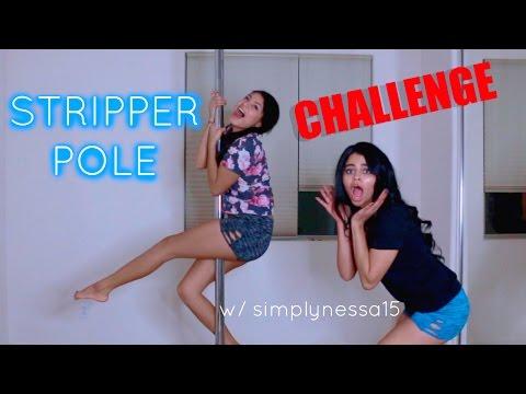 STRIPPER POLE CHALLENGE?!